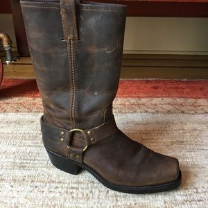 Frye Harness Boot, Brown Leather Size 11M